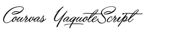 Yaquote Script fuente