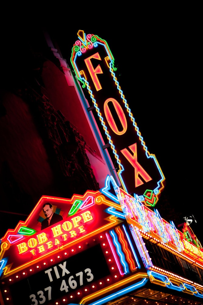 Fox Theater Vintage Neon Marquee Sign