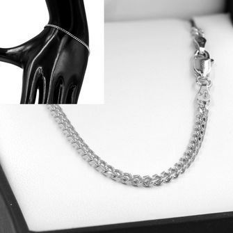 19cm Sterling Silver BCD Curb Chain Bracelet - SB-BCD80