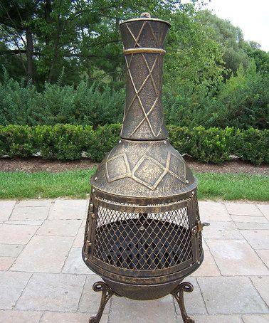 Another great find on #zulily! Antique Bronze Elite Chimenea #zulilyfinds