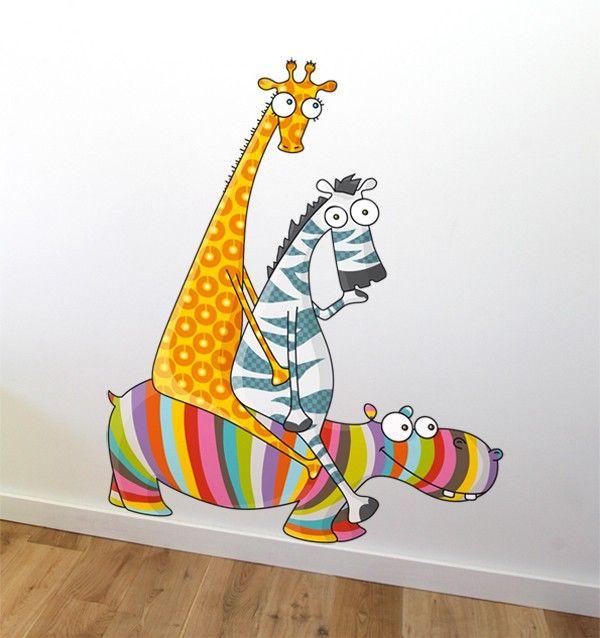 Sticker rigolo pour chambre de b b et enfant s rie golo for Stickers animaux chambre bebe
