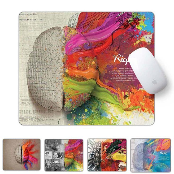 Unique Left and Right Brain Pattern Gaming Mouse Pad 240*200*1.5mm 2016 New Rubber Huge Extra S Size Gaming Mouse Pad //Price: $9.95 & FREE Shipping //  #gamergirl #gaming #video #game #winning