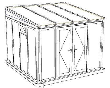 SMALL SIZE budget upvc 3 x 3 lean to synseal conservatory on Full height 35mm polcarbonate cheap upvc conservatory price http www.budgetupvc.co.uk