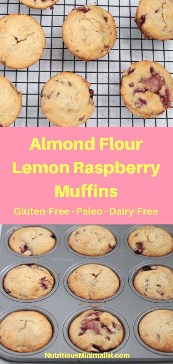 Almond Flour Lemon Raspberry Muffins