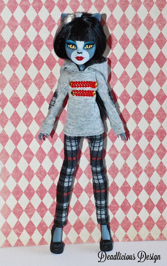 Hoodie and leggins for Monster high and EAH by DeadliciousDesign