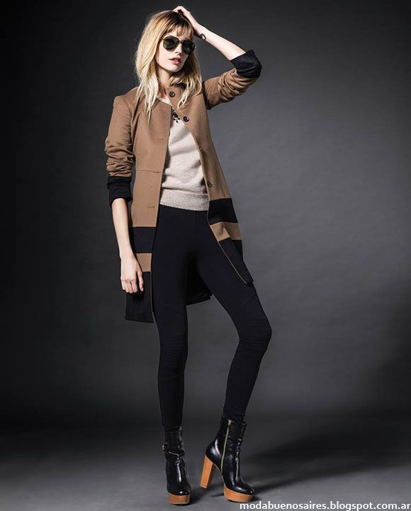 Moda otoño invierno 2014 Etiqueta Negra Mujer moda tapados 2014.