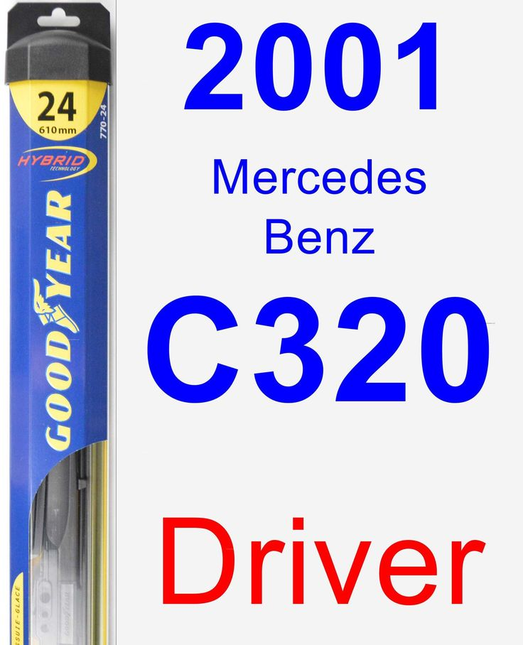 Driver Wiper Blade for 2001 Mercedes-Benz C320 - Hybrid