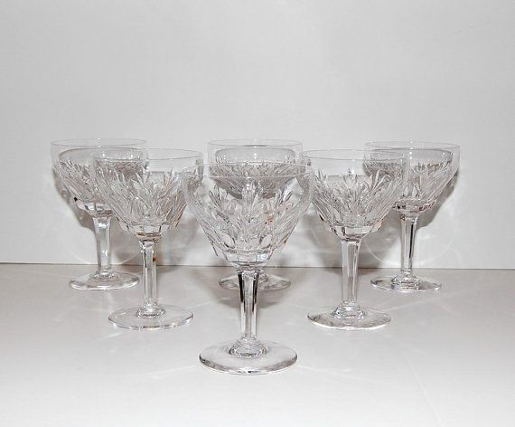 Vintage Stuart England Cardinal Pattern Cut Crystal ...