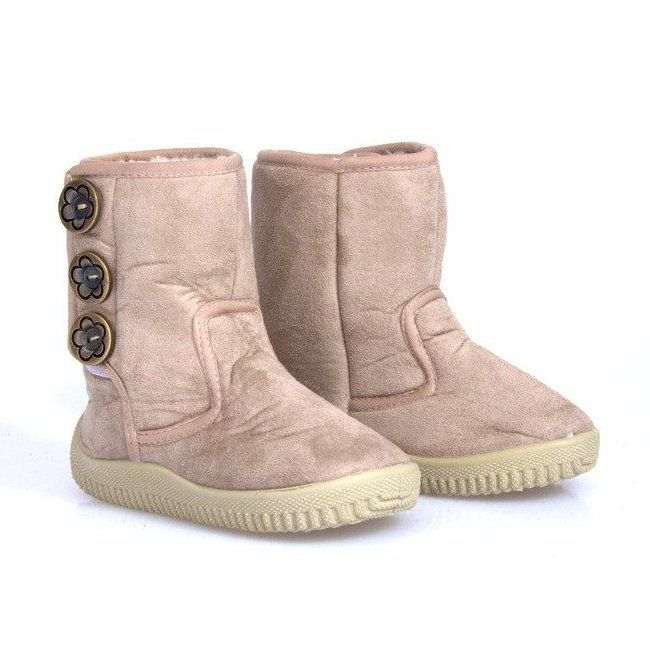 Eskimoski Dzieciece Unisex B 012 Beige Bezowy Ugg Boots Boots Uggs