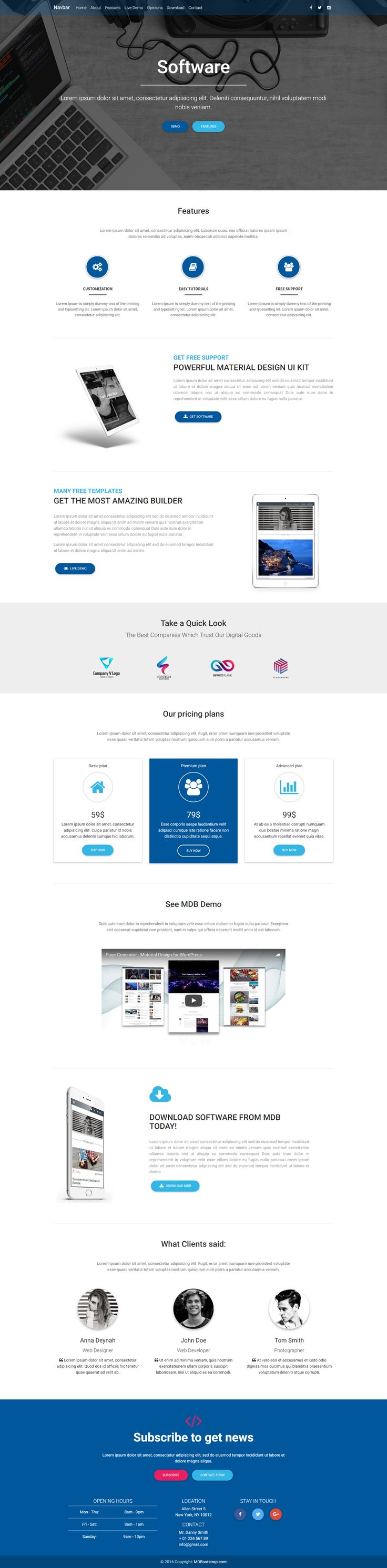 19 best Material Design Landing Pages Templates images on Pinterest ...