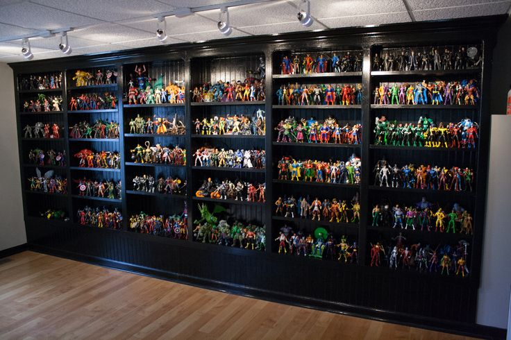Action Figure collection 533, backdrop of the man cave.