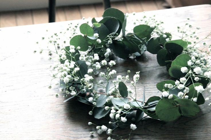 Gypsophile et Eucalyptus en couronne de fleurs ♡ #DIY | By Little Ones