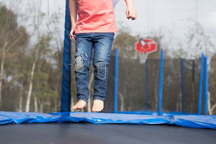 """Those who don't jump will never fly!"" Trampoline fun with Oz Trampolines #trampoline #oztrampolines #play #outdoorplay #kids #parenting"