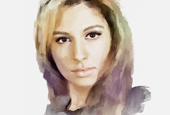I will draw a WATERCOLOR PORTRAIT from your photo for only $5