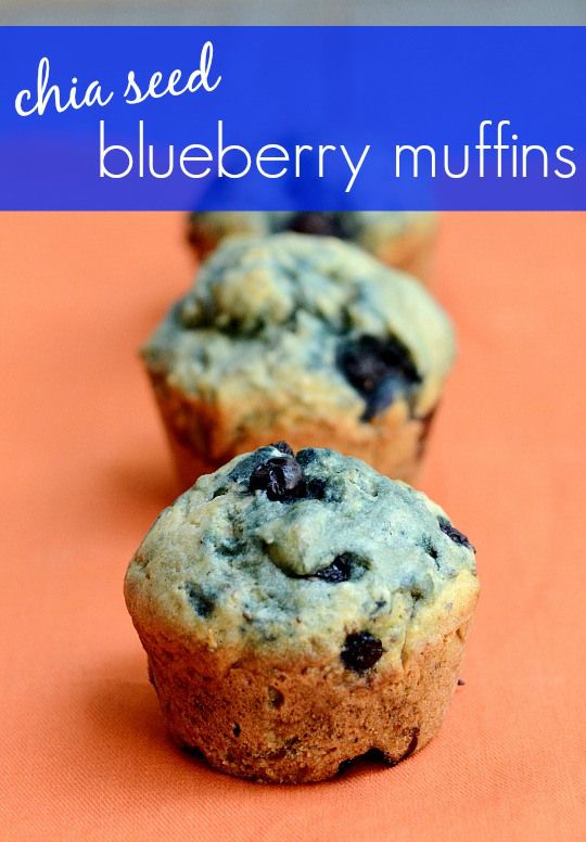 These chia seed blueberry muffins are so good! They make the perfect healthy breakfast or snack. I love the flavor. Recipe from Real Food Real Deals.