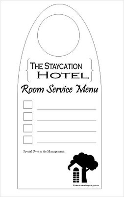 Staycation printables and ideas