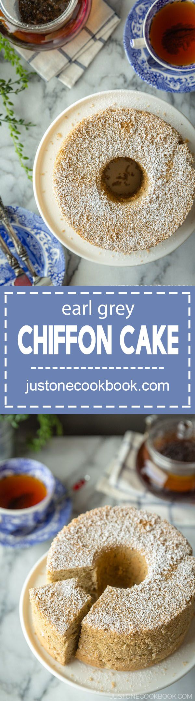 Earl Grey Chiffon Cake (アールグレイシフォンケーキ) | Easy Japanese Recipes at JustOneCookbook.com