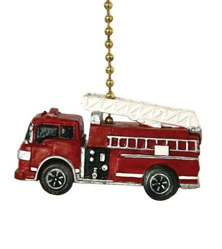Fire Truck Fire Engine Firefighter Ceiling Fan Pull By