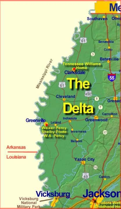 what towns are in the mississippi delta - Yahoo! Search Results