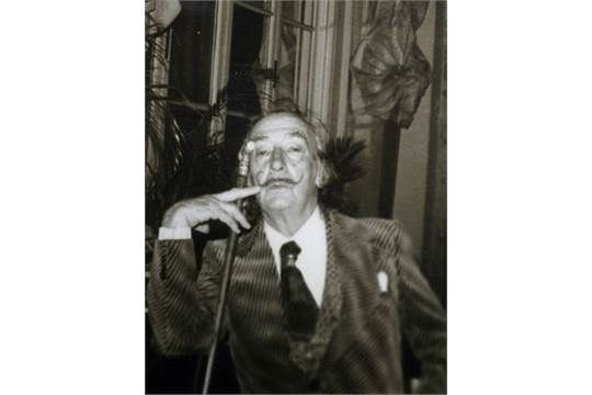 Michael Delon, American mid/late 20th century- ''Salvador Dali at the Plaza Hotel, New York'', 19