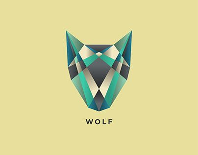 """Check out new work on my @Behance portfolio: """"Wolf Logo""""… i really like the colours and the use of the differnt shapes to create the bigger image ."""