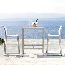 Mamagreen Zix Teak Outdoor Bistro Table, Bar height table - HomeInfatuation.com.