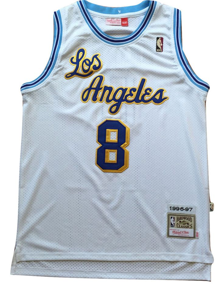1a8aecfa2f7 ... NBA Los Angeles Lakers Kobe Bryant White Throwback Classic Sewn Jersey 8  NWT ...