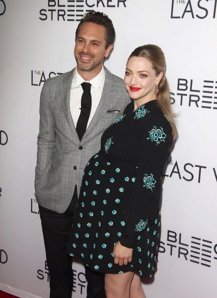Pregnant Amanda Seyfried Graces The Last Word Red Carpet with Charming Husband Thomas Sadoski