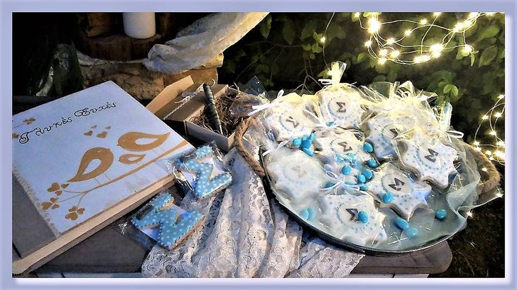 Cookies for a baby boy's christening!