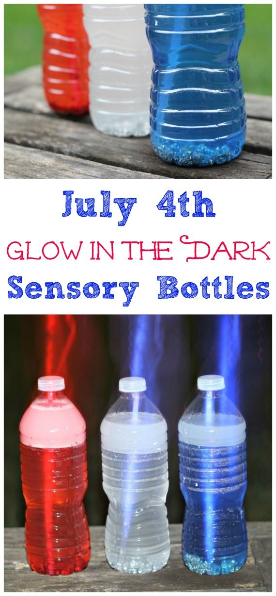 Glow in the dark sensory bottles for kids - awesome!