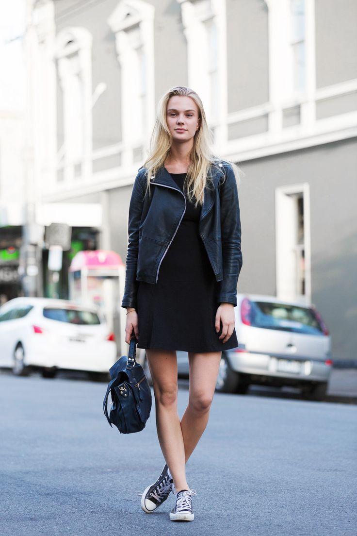 KAROLINE. Street-Smith-Style-People-Fashion-Liz-Sunshine-Australia-2016-Melbourne-Windsor-black-designer-leather-asos-converse-proenza-schouler