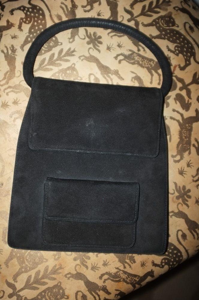 valentino garavani made in italy gorgeous black suede leopard print lined bag  #valentinogaravani #handbag