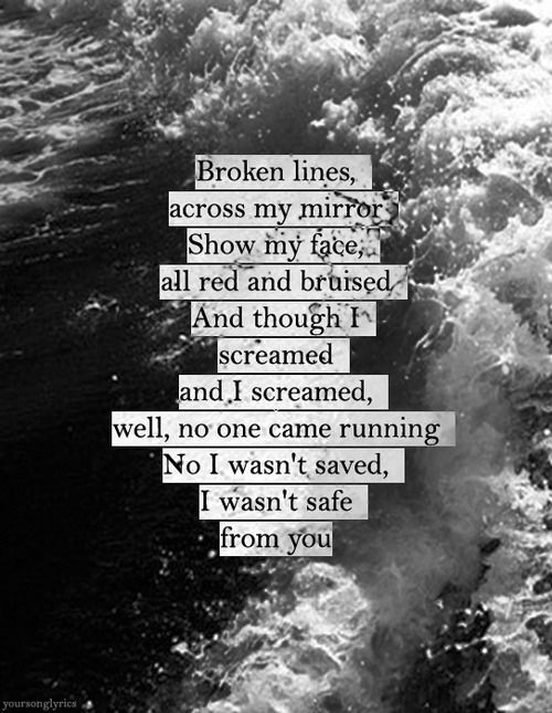 your song lyrics | Under The Water - The Pretty Reckless
