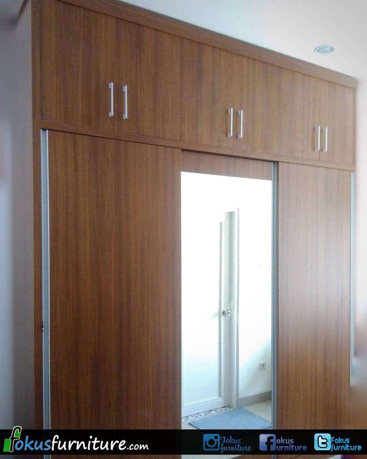 "47 Suka, 1 Komentar - Furniture custom minimalis (@fokusfurniture) di Instagram: ""Lemari pakaian 3 pintu geser di Ampera.  #ampera #lemari3pintu #furnitureminimalis #Fokusfurniture…"""