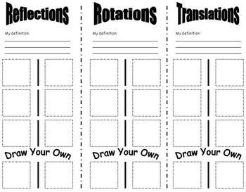 Worksheet Transformation Geometry For Grade 3 best 25 transformations math ideas on pinterest transformation this is a activity or guided notes for students to create their own transformations
