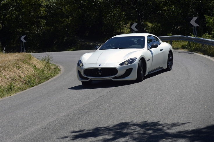 Drifting the brand new Maserati Granturismo Sport, near Imola, Italy (July 2012)