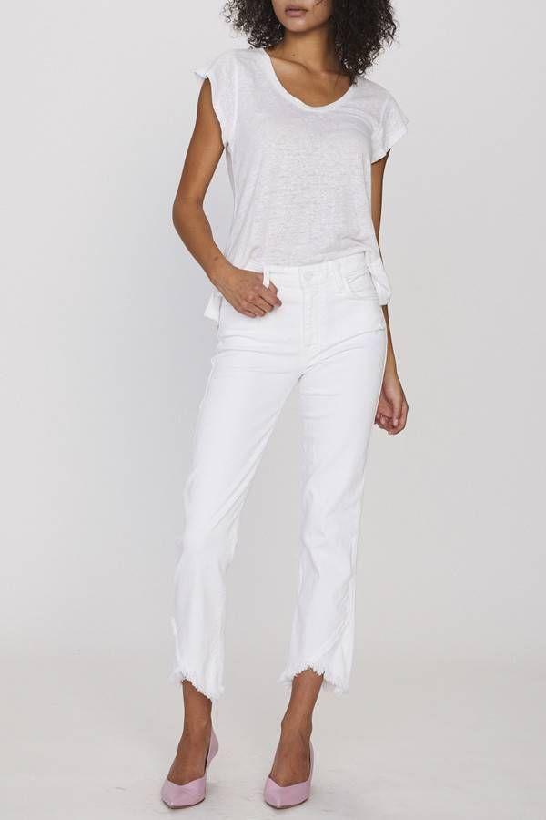 01a3df3d88 Sanctuary Modern Straight Piece Crop White Jean in 2019 | Denim ...