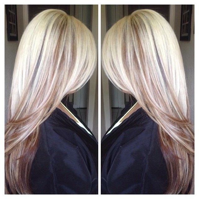 Gorgeous Long Blonde Hair Lowlights Highlights Layers