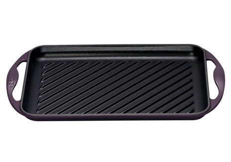 Cast Iron Rectangular Grill in Cassis