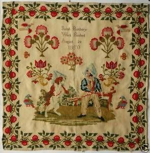 19th Century English Sampler Dated 1850