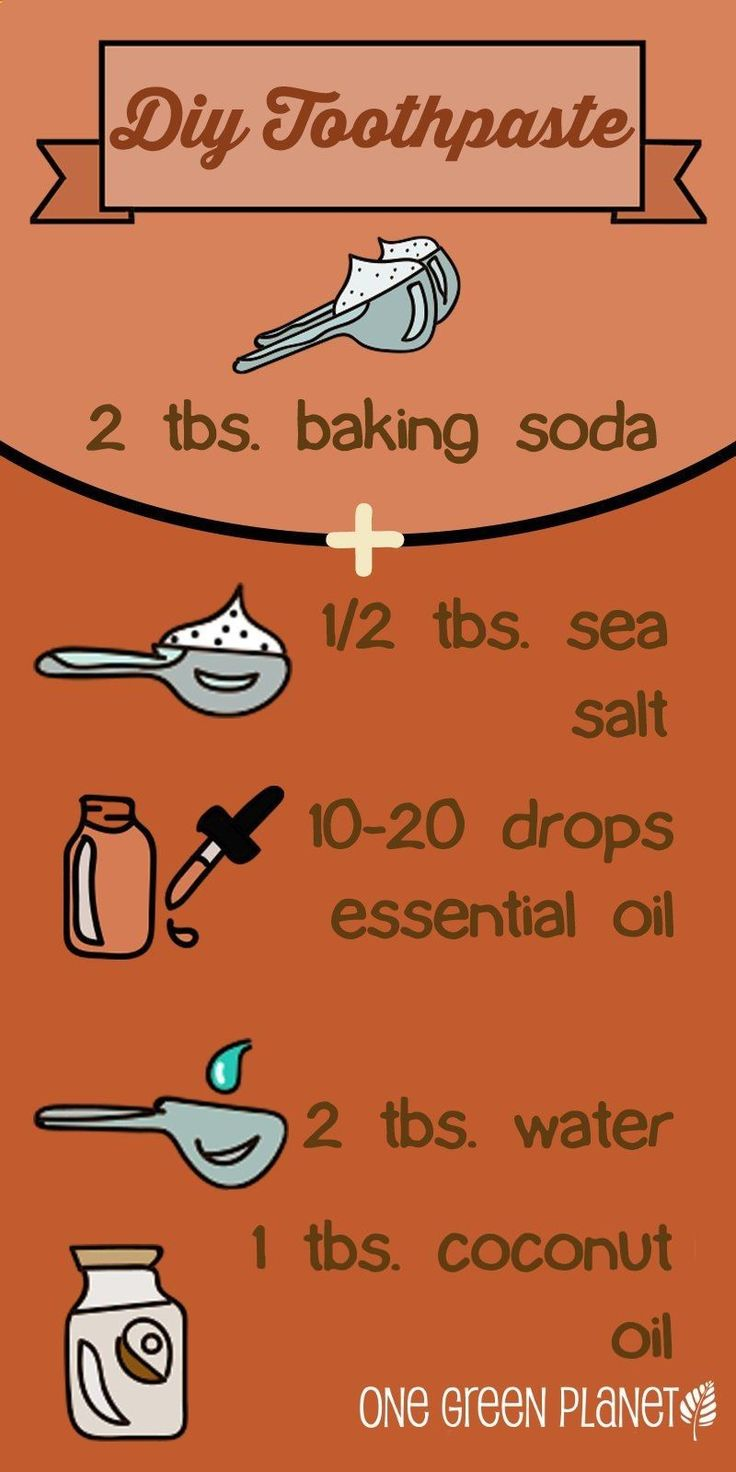 DIY Toothpaste. 2 tbsp soda 5 turns salt 1 cap peppermint extract 1 tbsp coconut oil 1 tbsp water. Try no water next time. The oil and water separated making it hard to stir. Melted coconut oil. #goinggreendiy