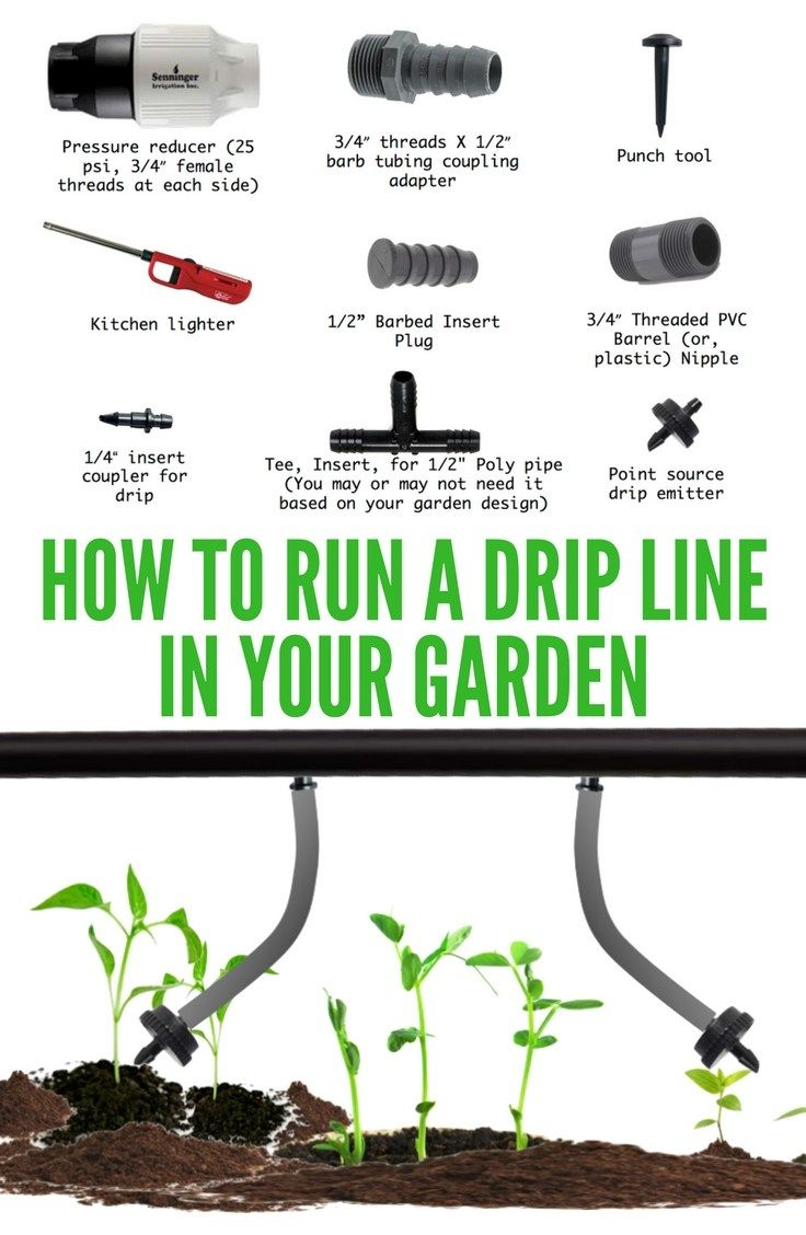 Drip line irrigation DIY for a home garden | From our Family Blog
