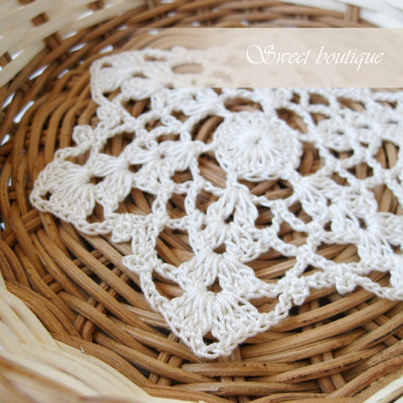 Set of 6 Vintage Crochet coasters/doily/mini by MSweetboutique, $17.00