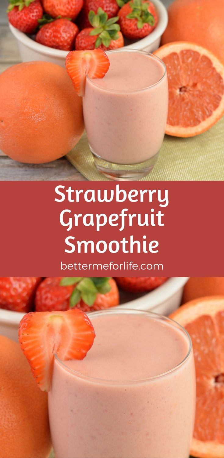 Not only does this strawberry grapefruit smoothie taste amazing, this smoothie is packed with vitamin C to give your immune system a boost! Find the recipe on BetterMeforLife.com (healthy smoothie recipes strawberry)