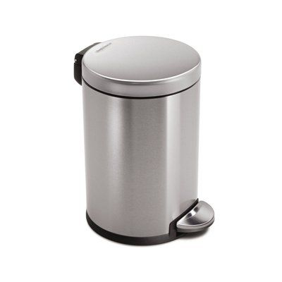 Simplehuman CW1852BL Gallon Brushed Stainless-Steel Indoor Garbage Can