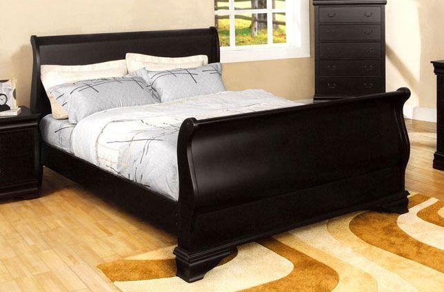 black sleigh bed queen - Google Search