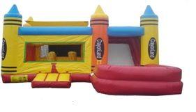 18ft Crayonland Castle slide Combo