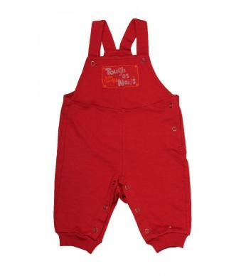"""Romper in fleece, with cuff detail and """"Tough as Nails"""" print and applique design."""