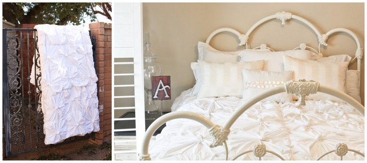 Anthropologie inspired knotted bedding Tutorial: Craft, Knotted Bedding, Tutorial, Duvet Cover, Knotted Quilt, Diy, Bedroom