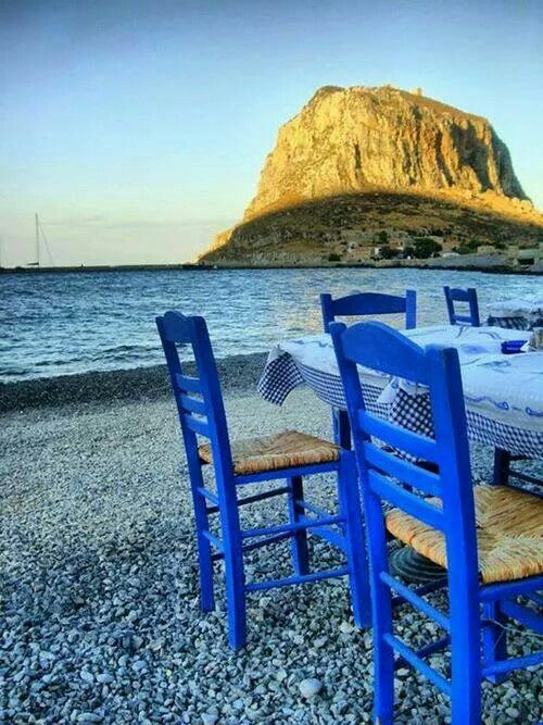 "Monemvasia.... Feet in the water! ""Amazing Greece"""